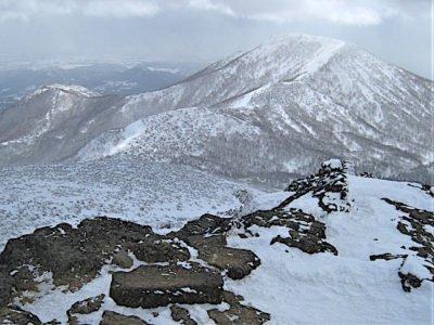 安達太良山山頂より和尚山