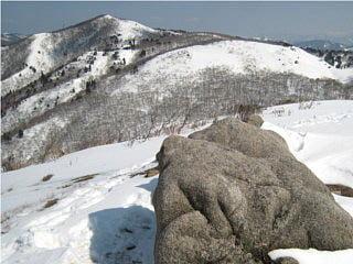 赤坂山山頂から三国山