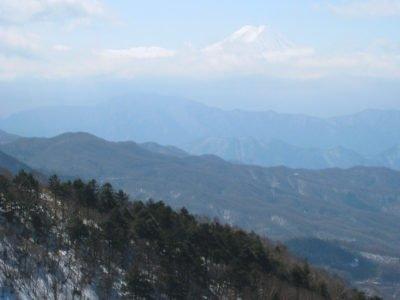 稜線から見た富士山