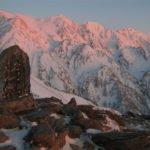 夜明けの白馬三山