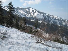 別山を望む
