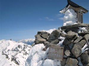 冬の奥穂高岳
