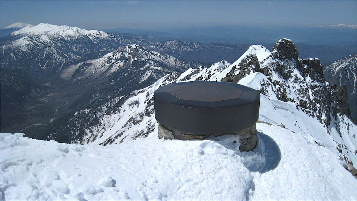 雪の奥穂高岳