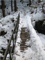 稲村ヶ岳登山道にある橋
