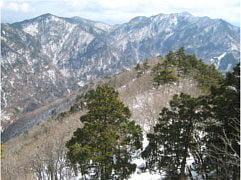 稲村ヶ岳から大普賢岳方面