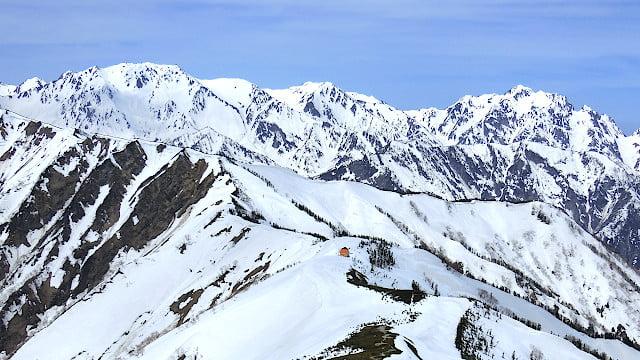 剱岳・立山を望む
