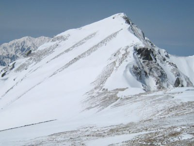 唐松岳を望む