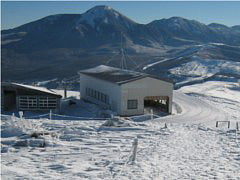 車山高原スキー場リフトの山頂駅