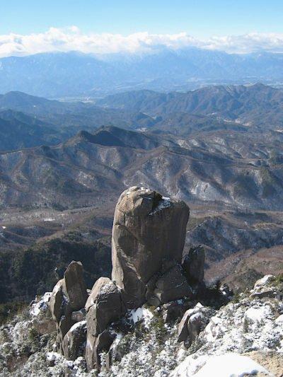 瑞牆山山頂から見る南アルプス