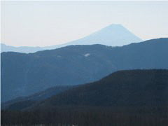 入笠山山頂より富士山