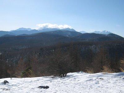 入笠山山頂より南アルプス