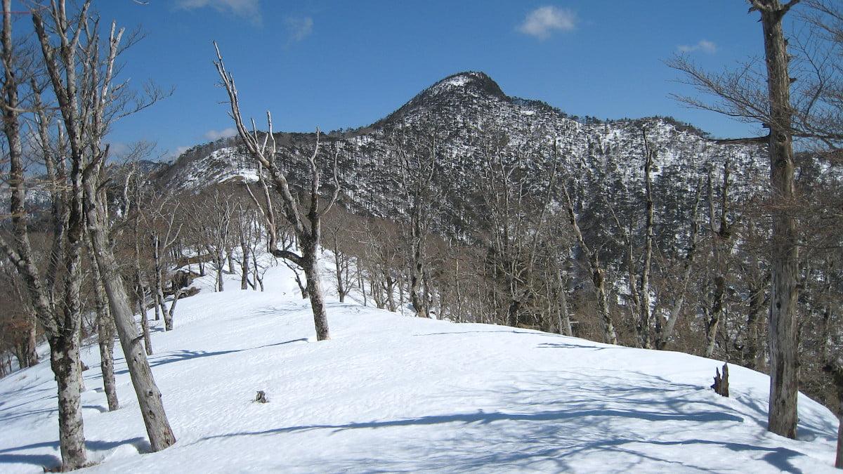 冬の釈迦ヶ岳