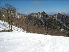 古田の森付近より大日岳