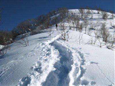 山頂へ向かう尾根