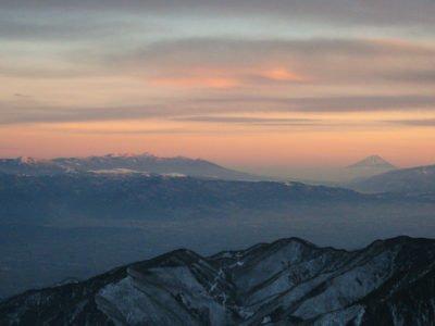 燕山荘から見た夕景