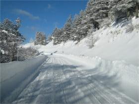 道路の積雪