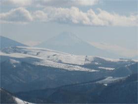 王ヶ鼻より富士山
