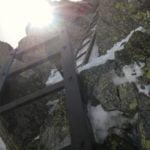 奥穂高岳へと通ずるハシゴ