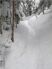 硫黄岳への登山道
